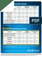 Sirius XM Pricing Guide