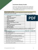 rotation checklist - clinical