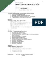 Filosofia de La Educación Marzo 2014 Bloque 1 y 2