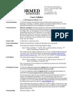 ET 601, 602 Elementary Hebrew Syllabus (2013-14)
