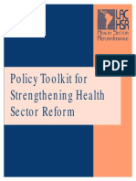 Policy for public sector reform