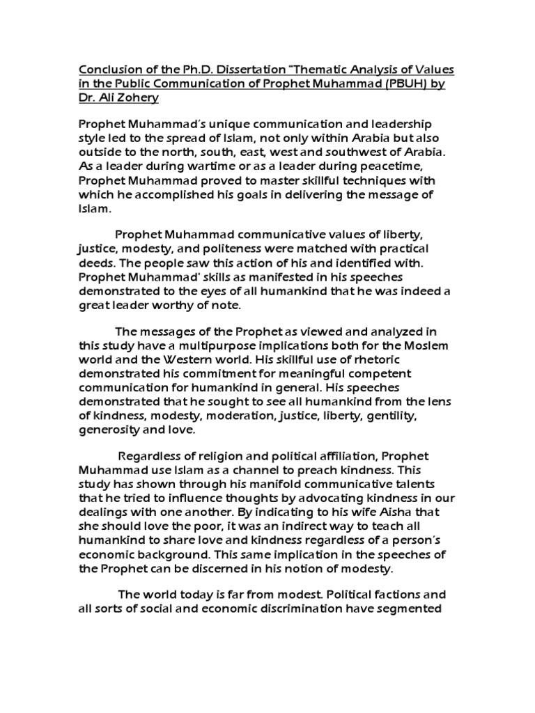 order leadership dissertation conclusion
