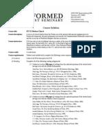 HT 522 Modern Church Syllabus (2013-14)