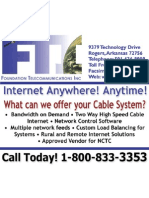 FTI Cable System Advertisement