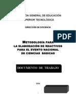 Metodologia de Reactivos  2010.doc