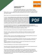 Dichiarazione di voto di Sevesoviva sull'assestamento bilancio di previsione 2009