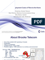 Calix Understanding Deployment Costs FTTH