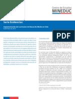 Implementación Del Currículum de Educación Media en Chile 2013