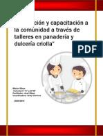 Motivación y Capacitación a La Comunidad a Través de Talleres en Panadería y Dulcería Criolla MISION RIBAS