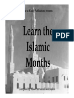 Learn The Islamic Months