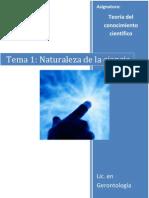 Tema 1 (Naturaleza de la ciencia)