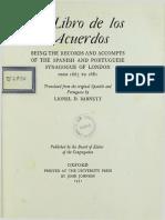 El Libro de Los Acuerdos