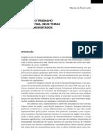 A Sociologia Do Trabalho Na América Latina - Seus Temas e Problemas Revisitados