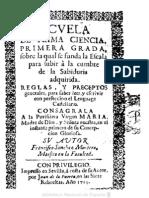1713 - Escuela de Prima Ciencia - Francisco Sánchez Montero - Sevilla, 1713