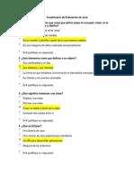 Cuestionario de Evaluación de Java v2