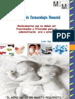Medicamentos Triturados via Oral Neonatos - REDVENEO