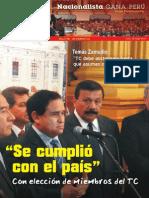 Boletín Nº 16 del Grupo Parlamentario Nacionalista Gana Perú