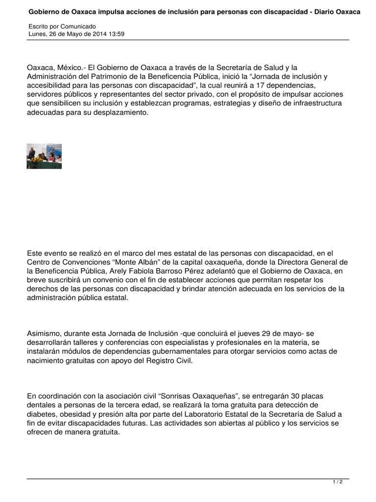 26 05 14 Diarioax Gobierno De Oaxaca Impulsa Acciones De