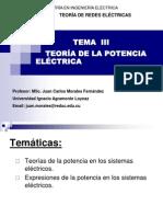 Tema III Conferencia Teoría de La Potencia Eléctrica