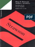 Strawson, Peter F. (1992). Analisis y Metafisica. Una Introducción a La Filosofía. (1)