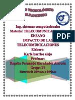 Ensayo El Impacto de Las Telecomunicaciones