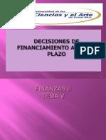 2 Finanzas 2 Desiciones de Financiamiento a Lp