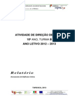 Relatório Crítico DT 2012-2013 10ºB