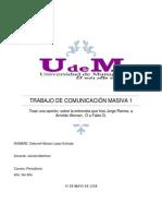 Trabajo de Comunicación Masiva 1 Presentacion
