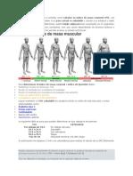 Calculo de Indice Masa Muscular