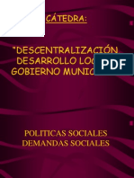 UNCU-Descentralización, Desarrollo Local y Gob. Municipal
