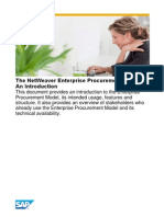The NetWeaver Enterprise Procurement Model - An Introduction