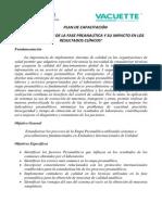 Plan de Capacitación Estandarización de Preanalítica 2014
