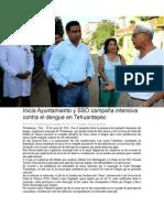 29/05/14 codicesoaxaca Inicia Ayuntamiento y SSO campaña intensiva contra el dengue en Tehuantepec