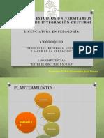 Coloquio Pedagogia Competencias