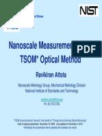 20091118 Nanoscale Measurements With the Tsom Optical Method