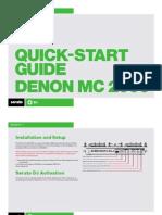 Denon MC2000 Quickstart Guide for Serato DJ