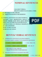 Verbal & Nominal Sentences
