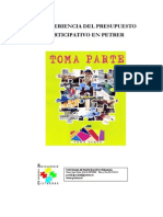 1.-La Experiencia Del Pres. Part. en Petrer (Francisco Frances, Ana Soriano y Antonio Carrillo