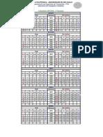 Calendário GPS 2011