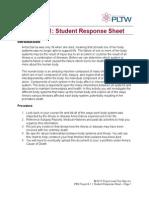 student response sheet