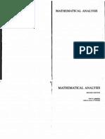 Tom M Apostol Mathematical Analysis 5ed 1981