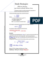 Dosages Based on Body Surface Area