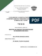 AnáLisis de Las Desviaciones en El Comportamiento TermodináMico en Las Turbinas de Vapor