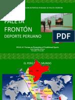 Paleta Fronton Deporte Peruano (Spanish Version)