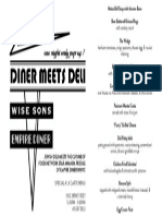 Diner Meets Deli Sunday 6/8