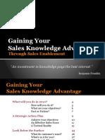 Gaining your sales knowledge advantage