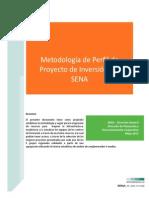 Metodologia de Perfil Proyectos Inversión Sena - 14 Mayo 2013 PDF