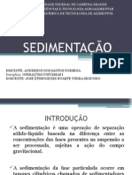Sedimentação Anderson