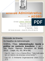 Análise Adm - 60h - Ad380 - Aula 03, 04 e 05