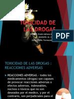 h) Toxicidad de Las Drogas